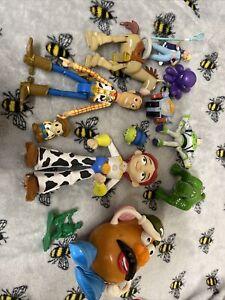L Disney Figure Bundle Toys Pixar Toy Story Woody Bo Peep Mr Potato Head Rex