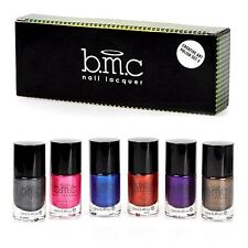 Bmc Nail Stamping Lacquers Set,  3 Colors Metallic 6Pcs, Cruelty-Free Manicure
