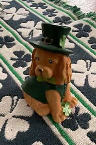 Saint Patrick Leprechaun Dog Figurine:New