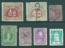 AUSTRALIA early mint & used fiscal/revenue stamp collection
