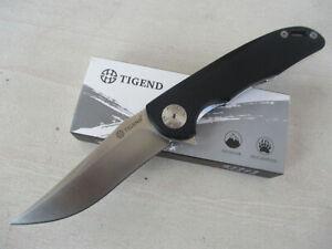 TIGEND Outdoor D2 Blade Fast Open Folding Pocket Knife Camping Hunting CF1011-BK