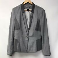 White House Black Market Womens Size 12 Jacket Blazer Gray