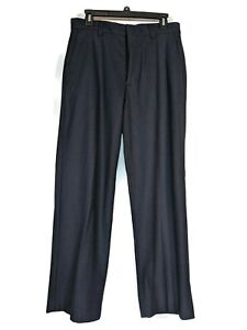 Banana Republic Navy Blue Wool Blend Dawson Pants Size 31 x 30