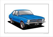 HOLDEN  LC  GTR  TORANA   LIMITED EDITION  CAR PRINT  AUTOMOTIVE ARTWORK