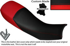 BLACK & RED CUSTOM FITS HARTFORD VR 125 DUAL LEATHER SEAT COVER ONLY