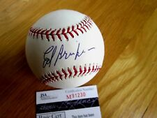 ED or EDDIE BRINKMAN Signed Major or American League Baseball -JSA Authenticated
