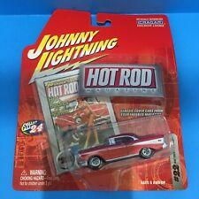 Johnny Lightning Hot Rod Magazine 1957 Chevy Bel Air - Red 1:64