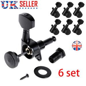 6x Guitar String Peg Locking Tuners Tuning Pegs Machine Heads 6R Inline Keys UK