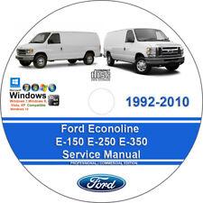 ford econoline e-150 e-250 e-350 1992-2010 workshop service