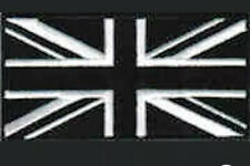 Official Forces Style Sew On & Velcro Embroidered Patch UK Union Flag Black