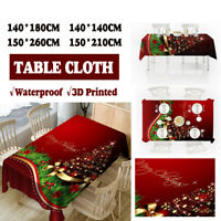 Christmas Tablecloth 3D Home Party Dinner Table Mat Cover Desk Decor