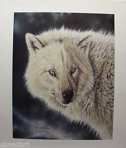 "Randy FEHR "" Trigger "" LTD art print Timber Wolf RARE mint print Certificate COA"