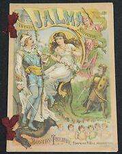 "1883 Boston Theatre ""Jalma"" Program 75th Performance Historical Significance"