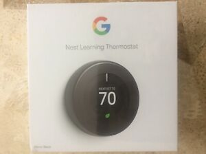 Google Nest Learning Thermostat, 3rd Generation, Mirror Black T3018US