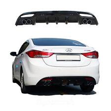 New Rear Bumper Diffuser Guard  Dual Muffler  for Hyundai Elantra 2011 - 2012