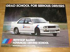 BMW M3 E30 EVO USA Poster 32 - Grad School / Original Vintage in MINT RARE