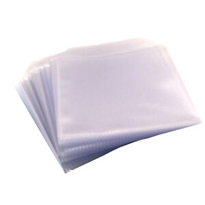 200 CD DVD DISC CLEAR COVER CASES PLASTIC 80 MICRON SLEEVE WALLET - 2 x 100 pack