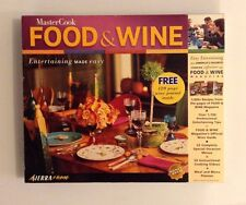 New Master Cook Food & Wine Software Cd Recipes Wine Guide Instructional Videos