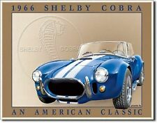 1966 Shelby Cobra Ford Garage Hot Rod Metal Sign Tin New Vintage Style USA #801