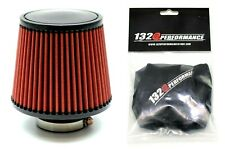 """1320 PERF FAB 4"""" Universal air filter cone reusable red with Pre-filter"""