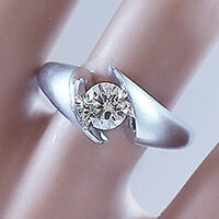 14K SOLID WHITE GOLD ROUND CUT DIAMOND ENGAGEMENT RING ART DECO STYLE 1.00CTW