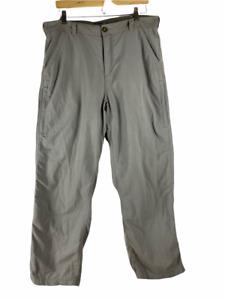 REI Mens Hiking Pants Gray Flat Front Pockets UPF 50+ Sun Protection 36 X 30
