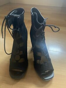 Womens High Ankle Lace Up Heels Size 3