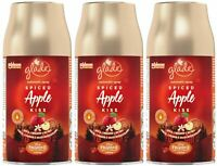 3 x 269ml Pack Glade Autospray Air Freshener Refill Spiced Apple Kiss