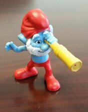 2011 McDonalds The Smurfs Movie #1 PAPA SMURF Toy Cake Topper Figure