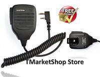 Handheld Speaker Mic Microphones for Baofeng Two Way Radio Plug Chat Talking BF