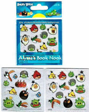 ANGRY BIRDS ~104 GLITTER STICKERS AUTOCOLLANTS~