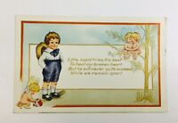 Vintage Whitney Made Valentine's Day Postcard ~ Young Boy & Cupids Embossed  GA4