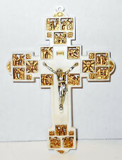 Vtg Plastic Stations of the Cross Religious Crucifix Consolidated Molded Prod
