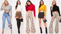 Womens Ladies Ruffle Frill Edge Hem Chunky Knit Polo Turtle Neck Crop Jumper Top