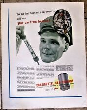 Ski Trooper Uses Portable Stove to Heat Frozen Rations WWII Ad