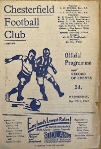 Chesterfield v Bury  Football League (North)  1945/46