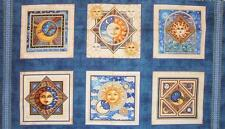 Celestial Sol Midnight Moon Sun Stars Dan Morris Quilting Treasures Fabric Panel