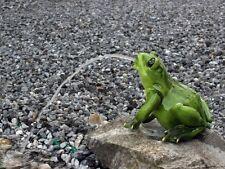 XL Frosch Wasserspeier groß, Garten Teich Pool Deko Figur wetterfest Unke Kröte