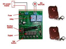 Timer switch for DC 12V motor forward reverse Remote controller shutter curtain