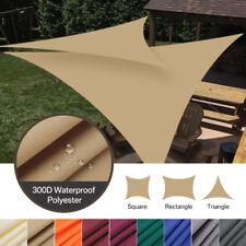 160 GSM Rectangle Sun Shade Sail Outdoor Home Garden Patio Pool Canopy Top