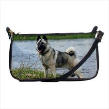 Norwegian Elkhound Shoulder Clutch Handbag & Mini Coin Purse - Dog Canine