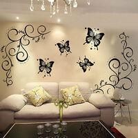 Beautiful Butterfly Vine Removable Decal Art Mural Wall Stickers Home Decor DIY