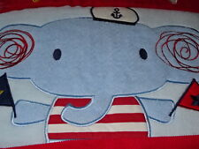 SAIL AWAY Whale Boat BABY COT/TODDLER BED SHEETS,COMFORTER,BLANKET BNIP Elephant