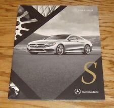 Original 2016 Mercedes Benz S Class Coupe Sales Brochure 550 63 AMG 65 AMG
