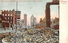 SAN FRANCISCO CALIFORNIA EARTHQUAKE KEARNEY STREET RUINS POSTCARD (c. 1907)