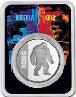 "*NEW* 2021 Niue 1 oz Silver $2 Kong Coin BU in TEP ""Ships free today"""
