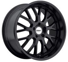 17x8 TSW Tremblant 5x112 +45 Black Rims Fits VW cc eos golf jetta gti