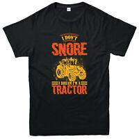 I Don't Snore I Dream I'm Tractor T-Shirt, Funny Tractor Farming Adult Top