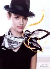 2007 Hermes Ashley Isham Daria Werbowy bag scarf 5-page MAGAZINE AD