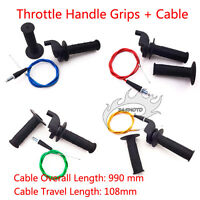 Pit Dirt Bike Throttle Cable Hand Grips For SSR 110 125 140 150 160 cc XR CRF 50